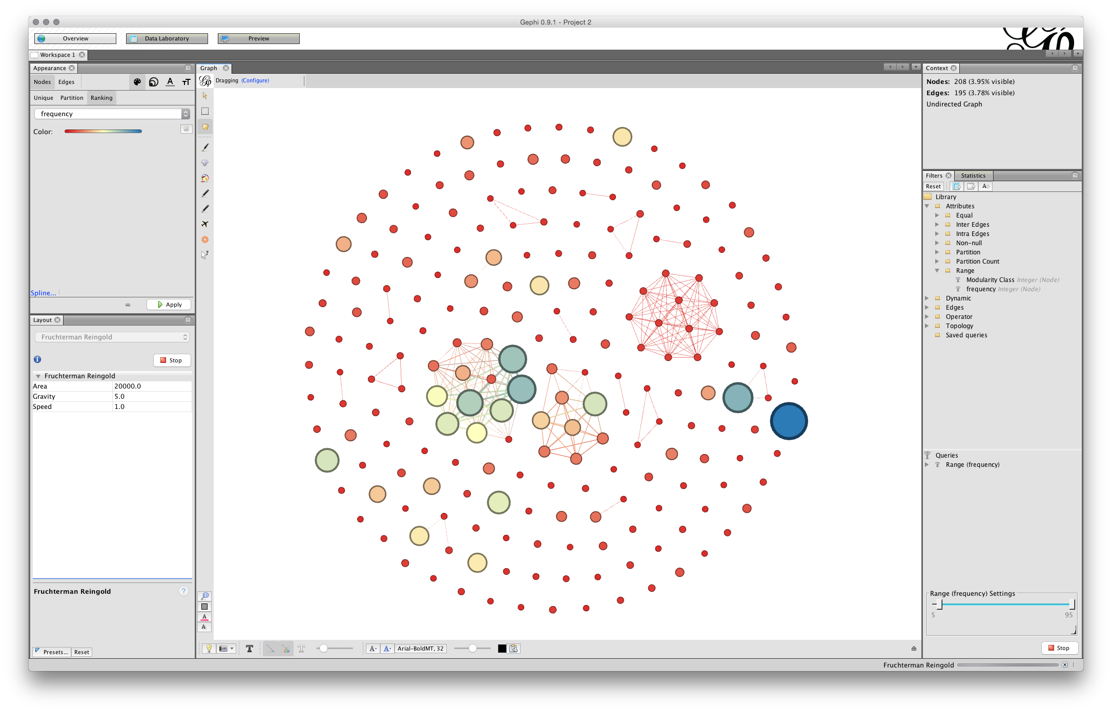 Network Visualisation with Gephi - Paul Oldham's Analytics Blog