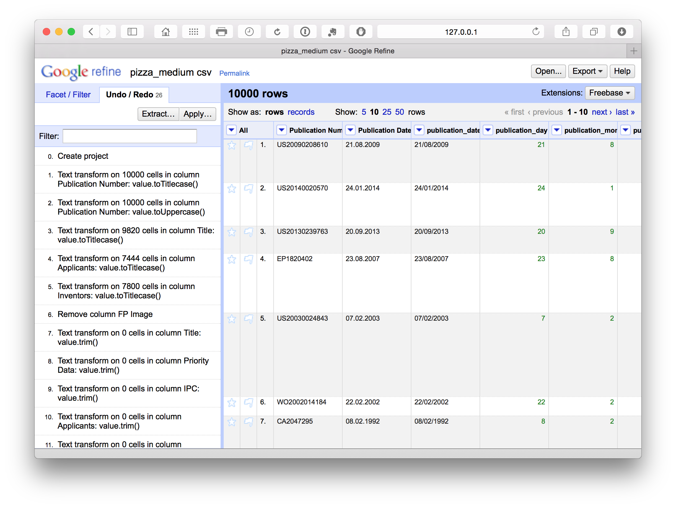 Cleaning Patent Data with Open Refine - Paul Oldham's